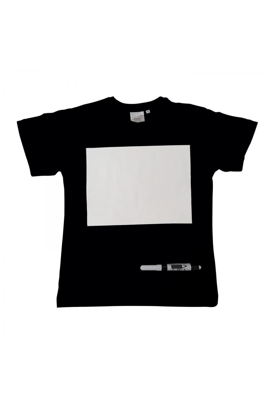 Maglietta per bambino scrivibile T-self Nera